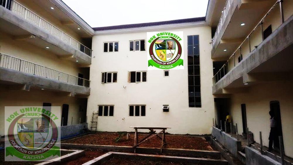 A building at NOK University, Kachia
