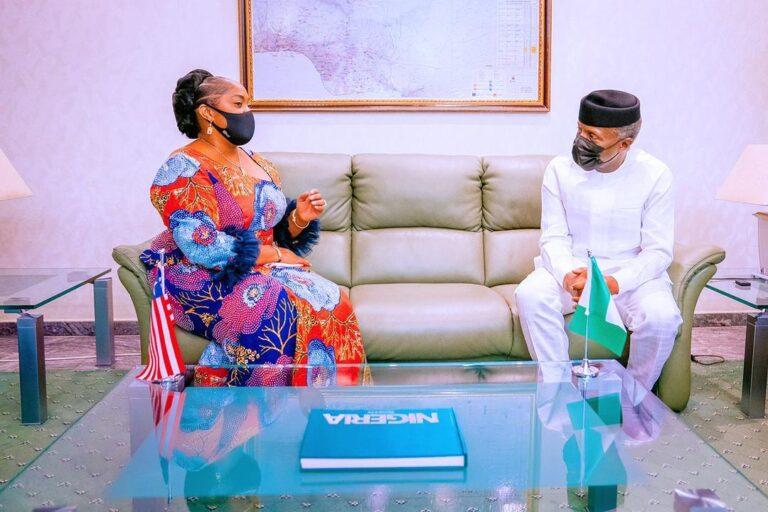 Osinbajo hosts Liberian vice president
