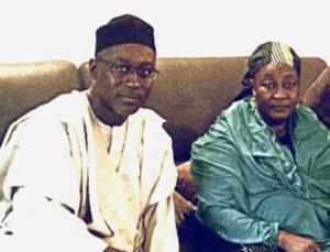 Late Aishatu Ahmadu Bello with the author