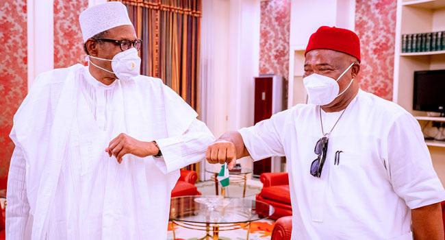 Imo Governor Hope Uzodinma and President Muhammadu Buhari