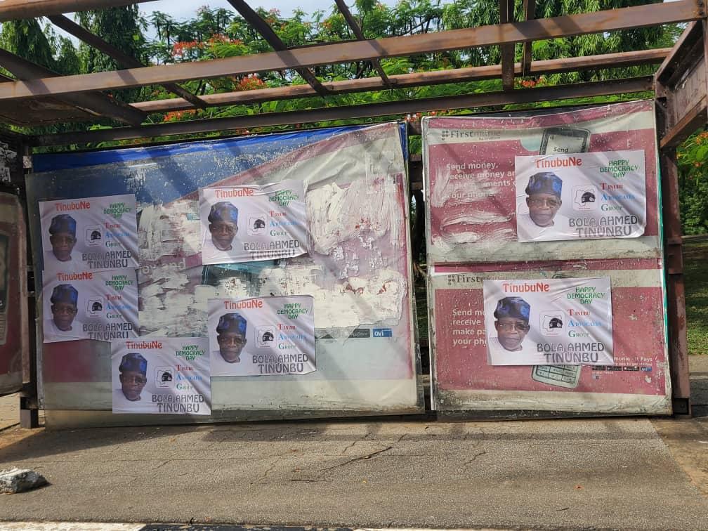 Tinubu's posters flood Abuja