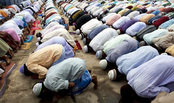 Muslims while praying