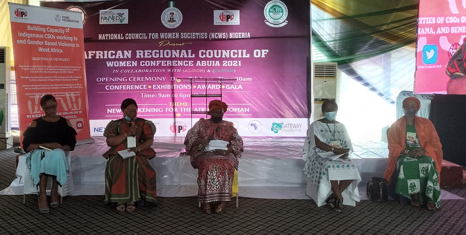 Panel discussants at the ongoingAfrican regional council on women societies in Abuja on Thursday
