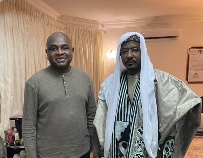 Emir Sanusi (right) with Kingsley Moghalu