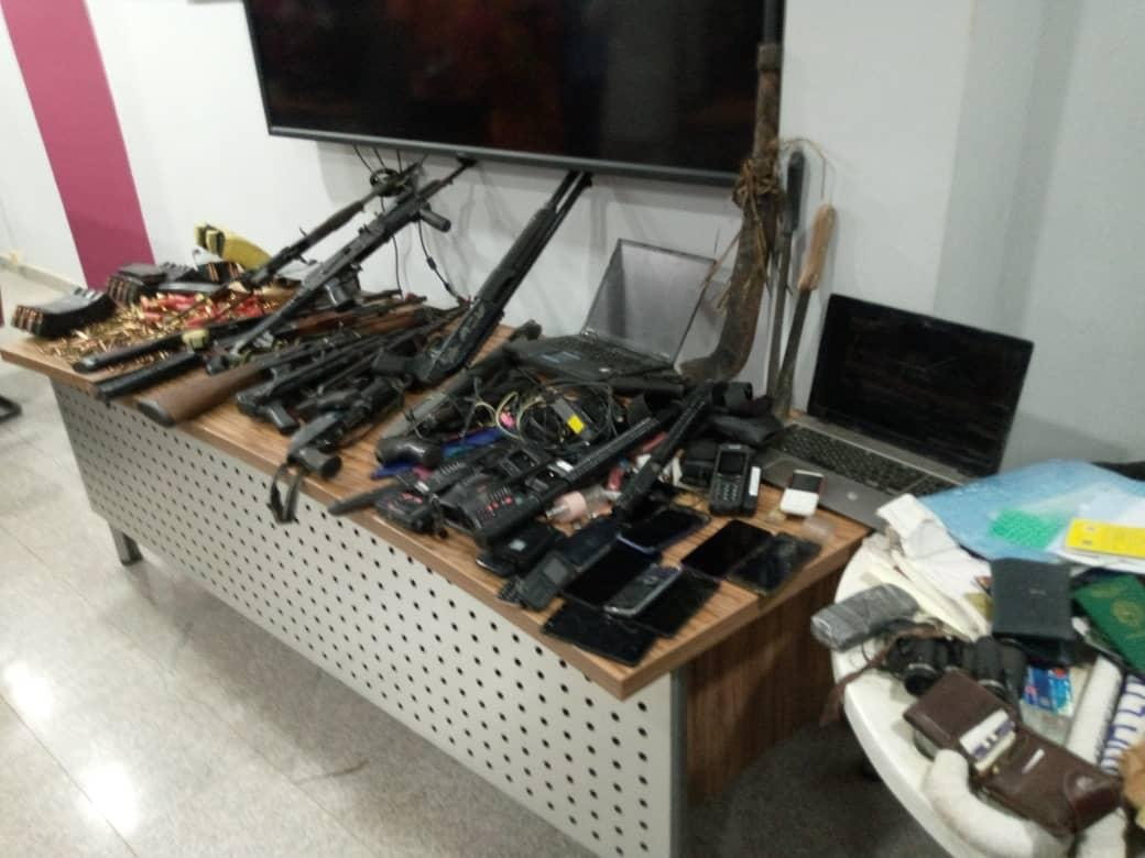 Some of the guns recovered at Sunday igboho's residence after the SSS raid
