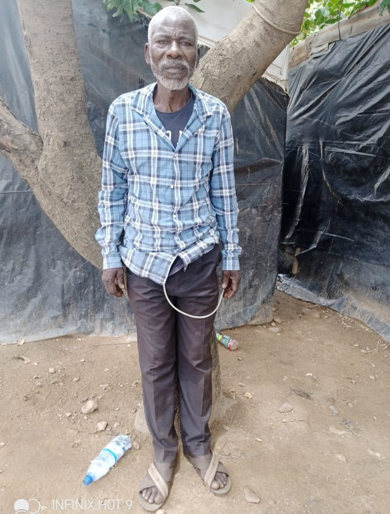 Me John Adamu, an IDP at Kuchigoro, Camp, Abuja