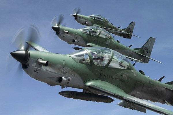 Nigerian govt takes delivery of final batch of Tucano jets