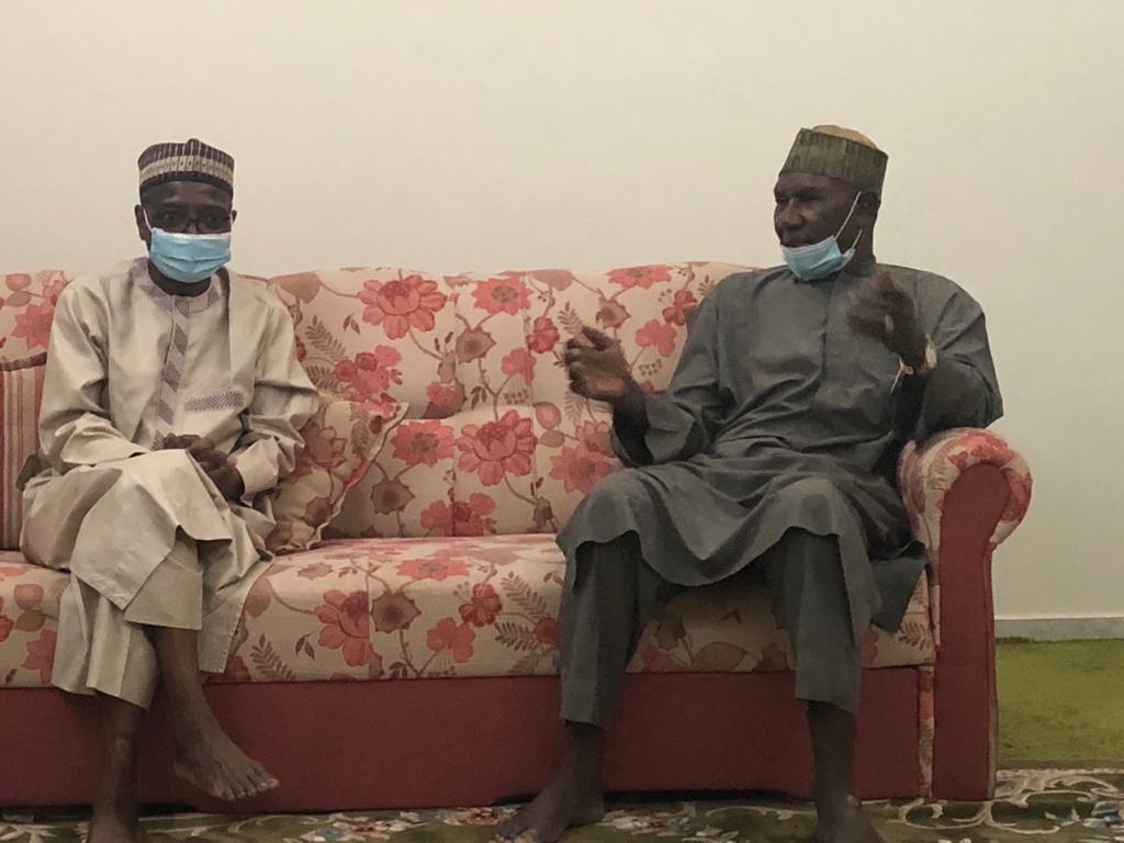Nigeria's ambassador to the Kingdom of Saudi Arabia, Yahaya Lawal (right), with the IsDB vice president, Mansur Muhtar (left).