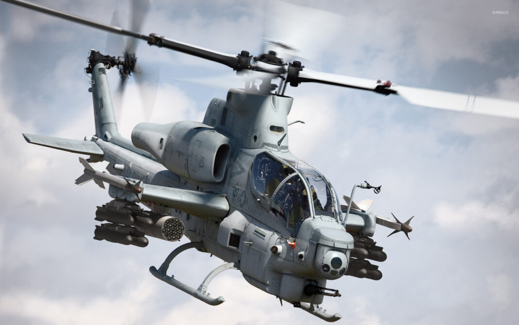 An AH-1 Cobra attack helicopters