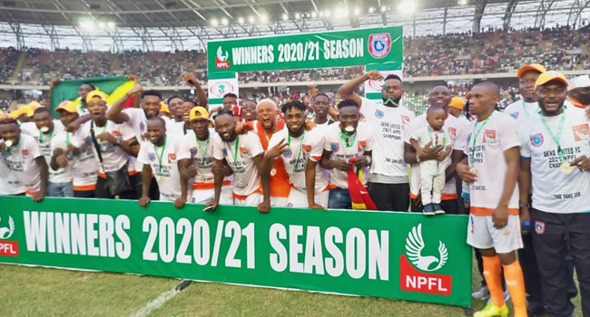 Akwa United win 2020/2021 NPFL
