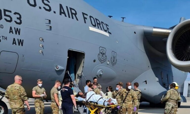 Baby born during Afghan evacuation named after U.S. aircraft