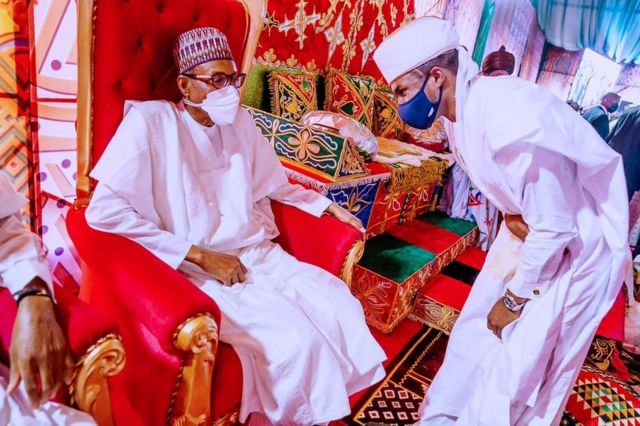 Buhari attends son's wedding in Kano