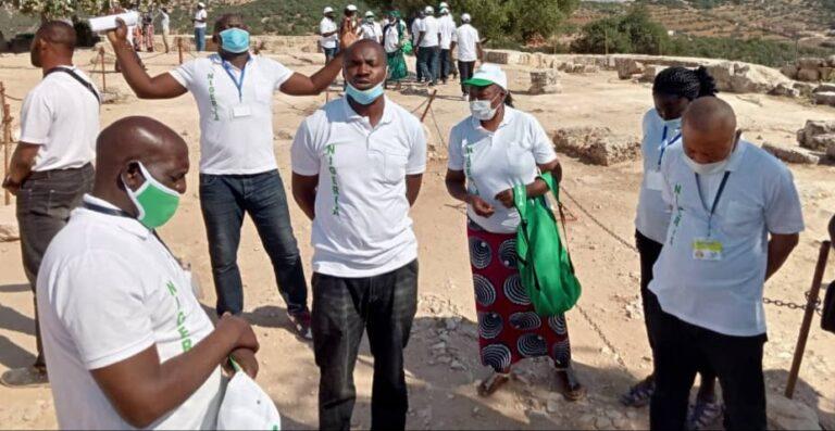 Christian Pilgrims pray for Nigeria at mount Nebo