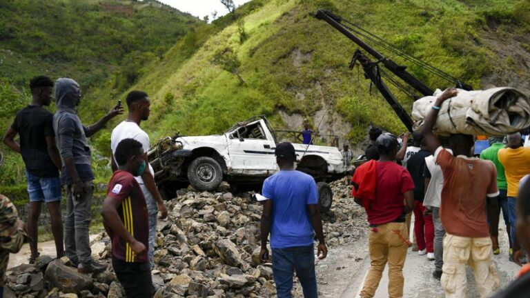 Damaged roads hinder aid to reach remote areas of Haiti