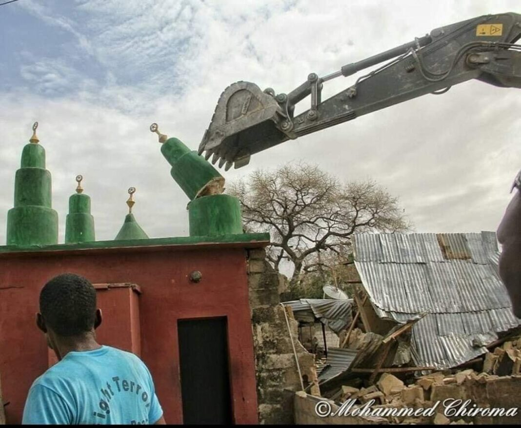 One of demolished mosques in Borno State.
