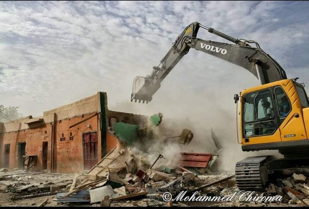 Another mosques being demolished in Borno.