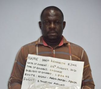 NDLEA arrests man who ingested 87 wraps of cocaine