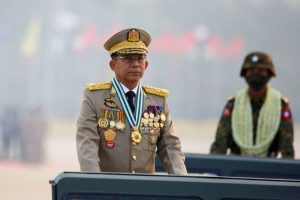 Myanmar shadow govt. condemns army ruler for taking PM role