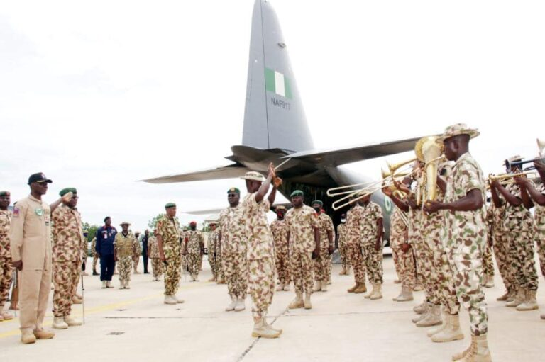 Nigerian Army provides bi-weekly welfare flights for soldiers fighting Boko Haram to see families