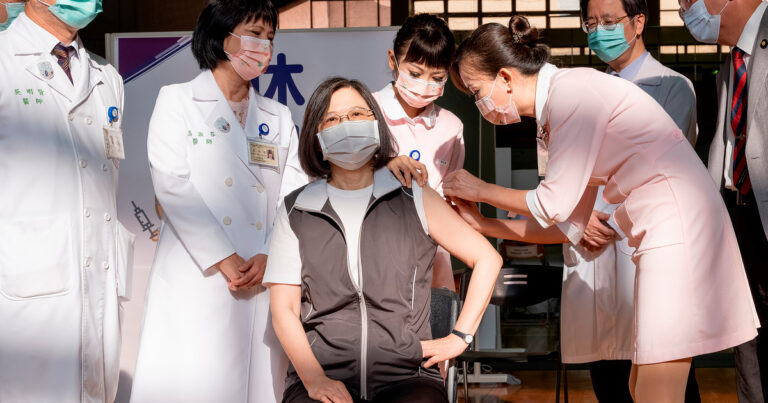 Taiwan's President receives first shot of domestically developed vaccine