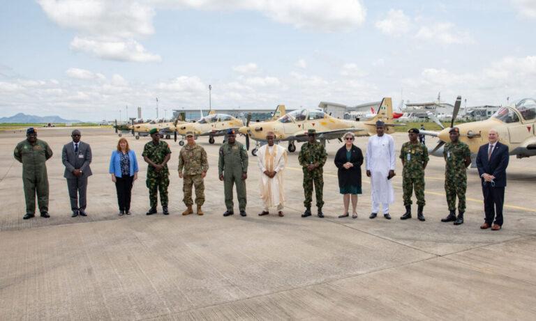Nigeria officially launches U.S-made A-29 Super Tucano aircraft