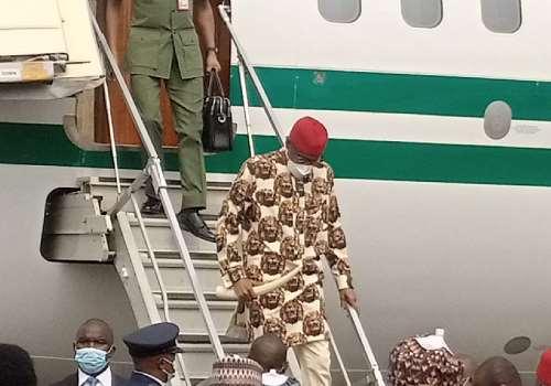 Buhari arrives in Owerri