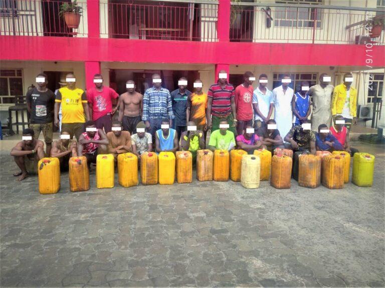 EFCC arrests 27 suspects over illegal oil bunkering in Port Harcourt