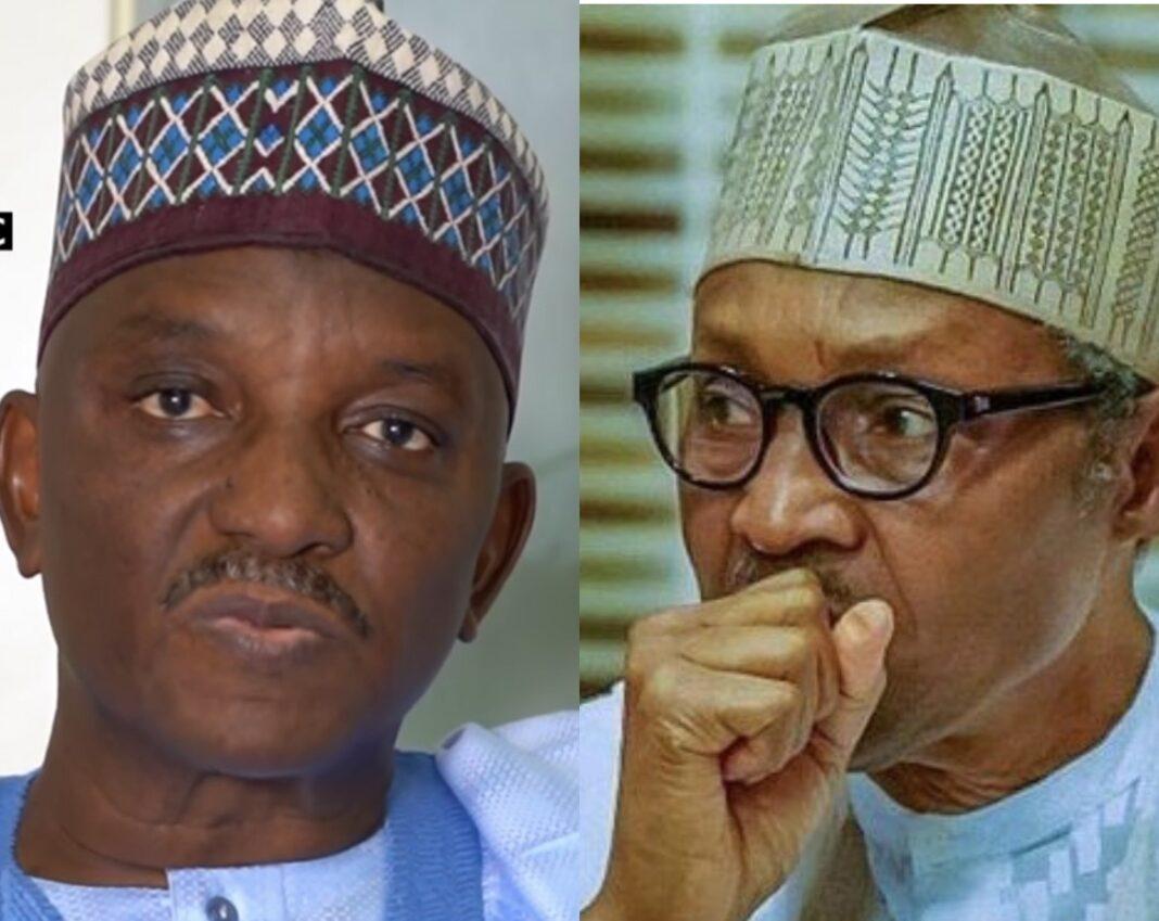 Sacked Power minister Saleh Mamman/President Muhammadu Buhari