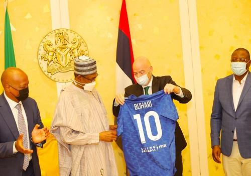 Nigeria will use football to promote unity, development, Buhari tell FIFA President Infantino