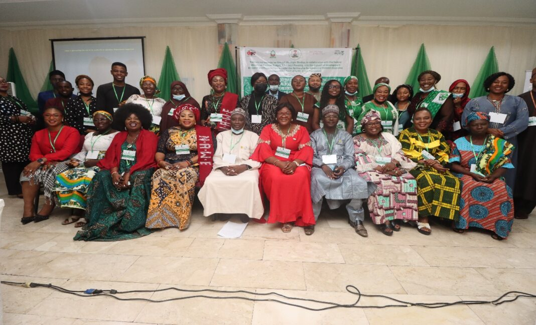 TWG working group members comprising of members from MDAs and CSOs on tracking Women's Economic Empowerment Policies and Implementation in Nigeria during their inauguration in Abuja on Tuesday 21st September 2021- Picture by dRPC.