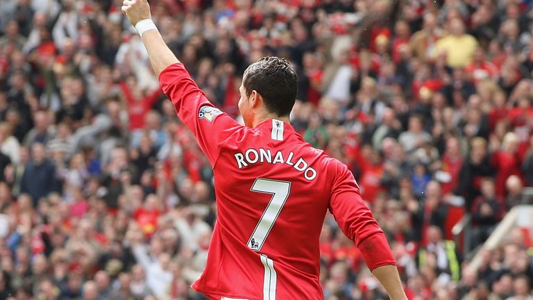 Cristiano Ronaldo will once again wear the No 7 shirt for Manchester United. Photo Credit: Skysports