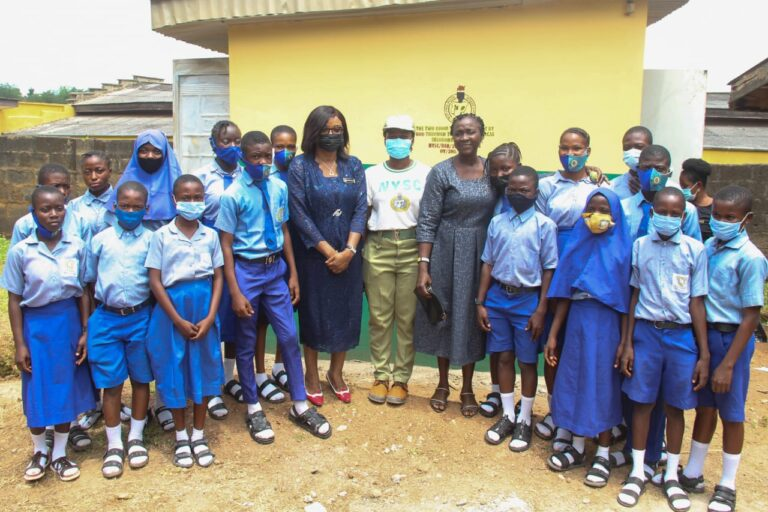 Corps member donates toilet facility to Ibadan Army secondary school