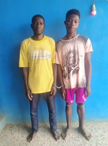 The suspected kidnappers arrested by the police in Ogun