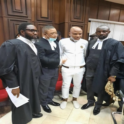 Kanu challenges FG's terrorism charges, court fixes November 10 for hearing