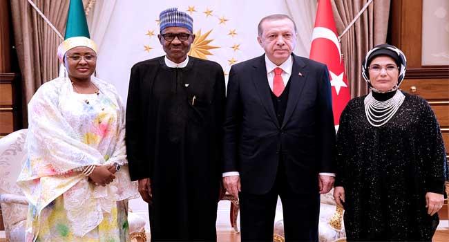 Buhari hosts Turkish President Erdogan, wife