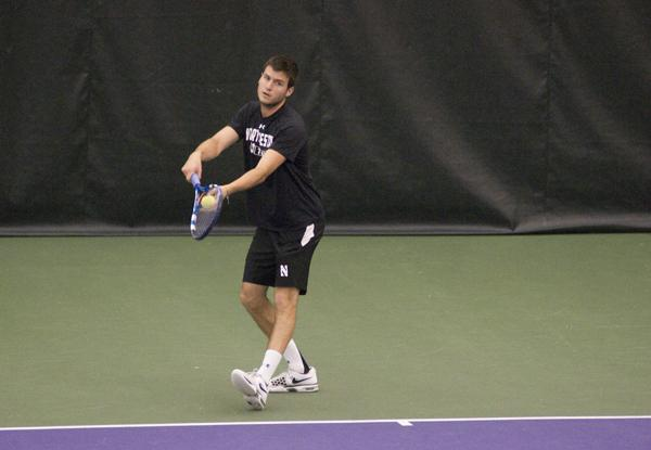 Men's Tennis: Northwestern falls just short of Illinois upset