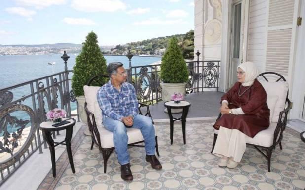 ترک صدر کی اہلیہ کی بالی ووڈ اداکار عامر خان سے ملاقات