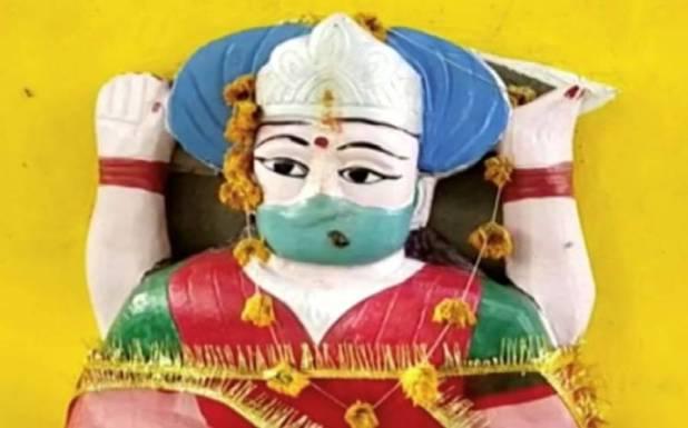 بھارت میں ' کورونا ماتا' مند ر کی تعمیر ، پوجا بھی شروع ہوگئی