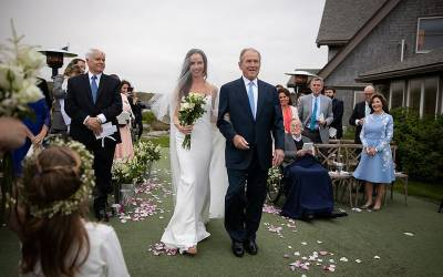 جارج بش کی پوتی نے شادی کرلی