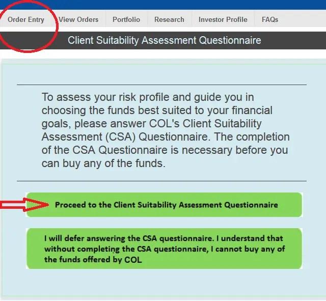 client suitability assessment