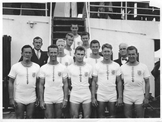 manuale olimpico foto di berlino 1936, canottaggio USA