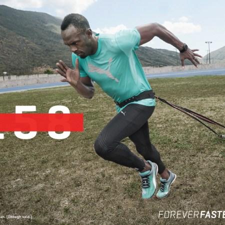 usain bolt training forever faster puma
