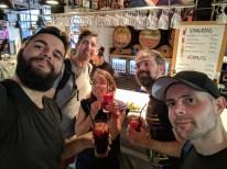 Mercado de San Miguel - me, Richard, Jake, Paul and Panos