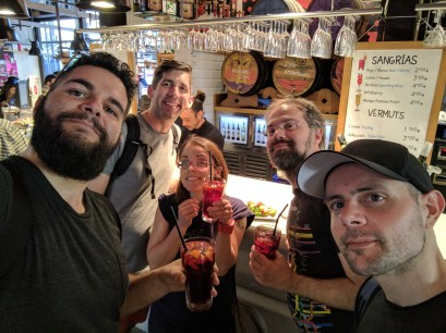 Mercado de San Miguel - me, Richard, Jake, Paul and Panos