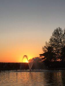 Parque del Oeste sunset