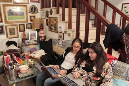 My sister and I working on Christmas day. Yes, we were both working and sorting out my sister's account security settings