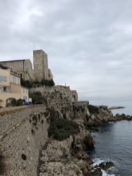 Along the walkpath to the major Bastion - Antibes Water meetup 22-28.02.2018