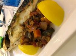 My sea bass at restaurant Albert 1er - Antibes Water meet up 22-28.02.2018