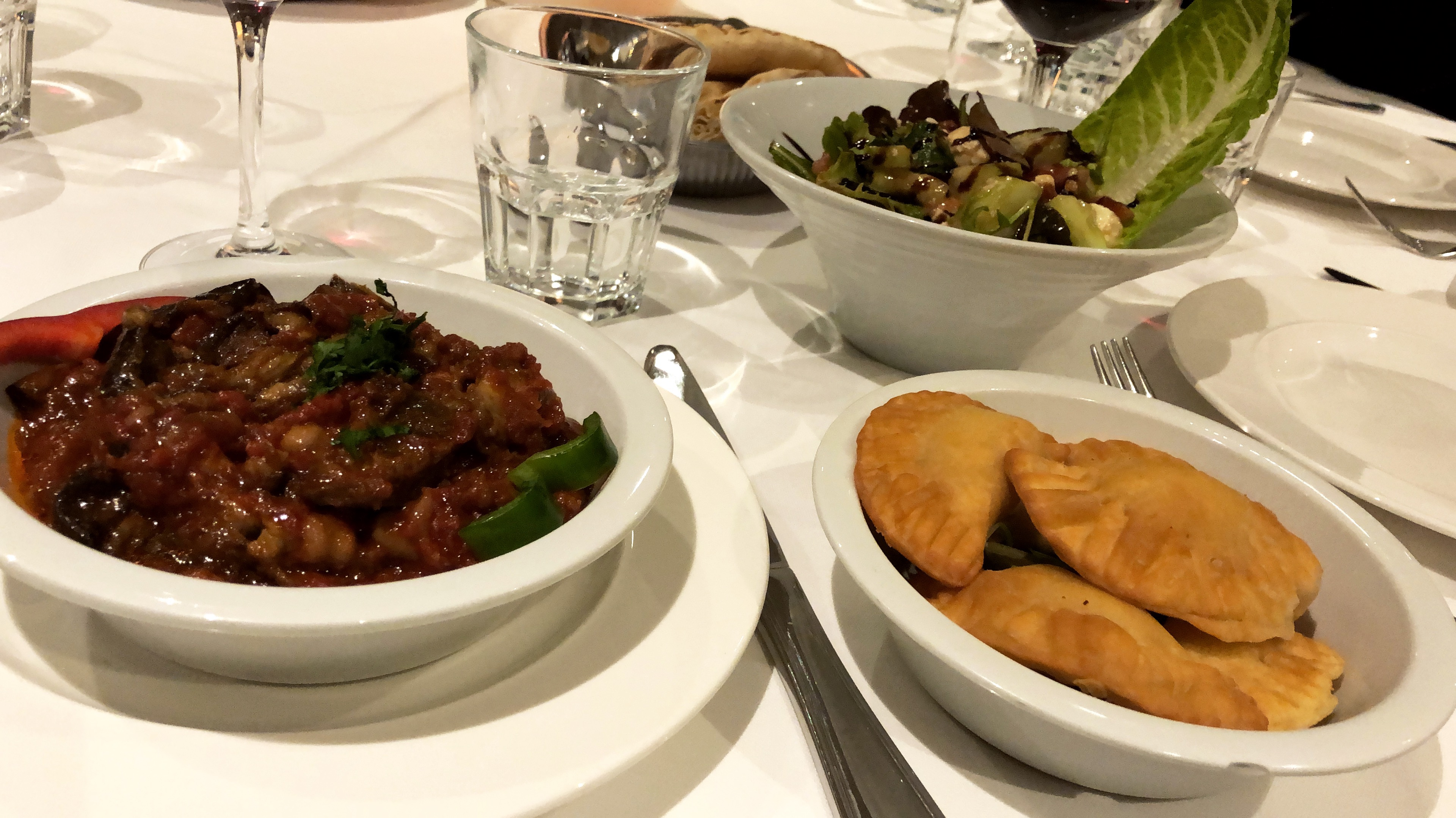 My vegetarian yummy meal at Le Phenicia restaurant - Antibes Water meetup 22-28.02.2018