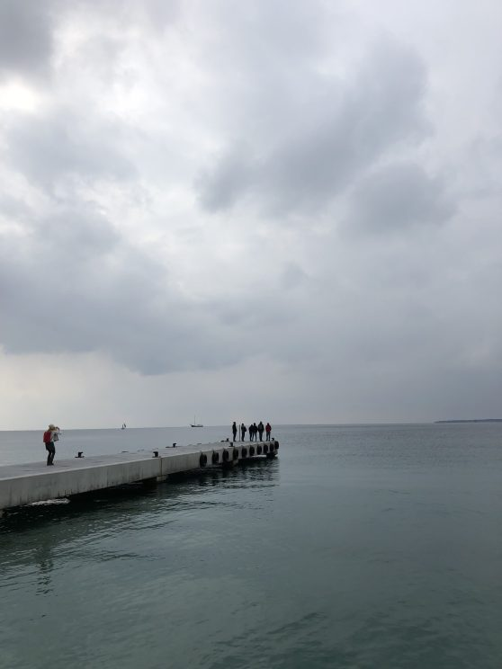 Team Water on a pier - Antibes Water meetup 22-28.02.2018
